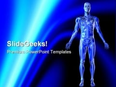 Skeleton Science PowerPoint Template 0610