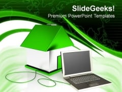 Small Computer Concept Internet PowerPoint Templates And PowerPoint Themes 0812