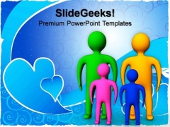 Small Family Children PowerPoint Templates And PowerPoint Themes 0812