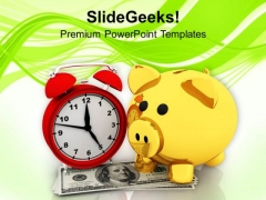 Small Savings Increases With Time PowerPoint Templates Ppt Backgrounds For Slides 0613