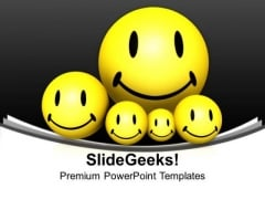 Smiley Balls Symbol PowerPoint Templates And PowerPoint Themes 1112