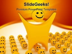 Smiley Shapes PowerPoint Themes And PowerPoint Slides 0211