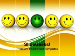 Smiley Team With Leadership PowerPoint Templates And PowerPoint Themes 0812