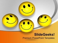 Smileys With Happy Face Joy Peace PowerPoint Templates Ppt Backgrounds For Slides 0313
