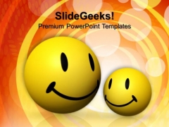 Smiling Emoticons Friendship PowerPoint Templates And PowerPoint Themes 0812
