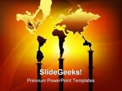 Smoke World Pollution Industrial PowerPoint Themes And PowerPoint Slides 0311