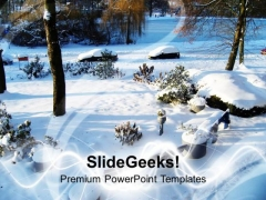 Snow Covers Each Place In Winter Season PowerPoint Templates Ppt Backgrounds For Slides 0613