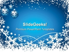 Snowflake Background Christmas PowerPoint Templates And PowerPoint Backgrounds 0711