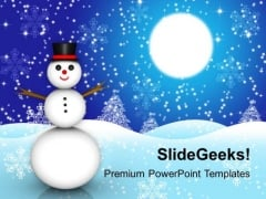 Snowman Christmas Holidays PowerPoint Templates Ppt Backgrounds For Slides 1112