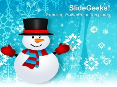 Snowman Holidays PowerPoint Templates Ppt Background For Slides 1112