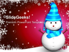 Snowman Red Abstract Background PowerPoint Templates Ppt Backgrounds For Slides 1112