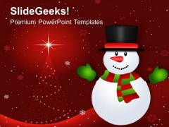 Snowman Winter Background Holidays PowerPoint Templates Ppt Backgrounds For Slides 1112