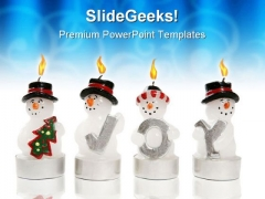 Snowmen Candles Abstract PowerPoint Themes And PowerPoint Slides 0811