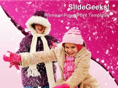 Snowy Winter Holidays PowerPoint Background And Template 1210