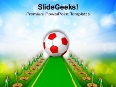 Soccer Ball Competition Success PowerPoint Templates Ppt Backgrounds For Slides 0713