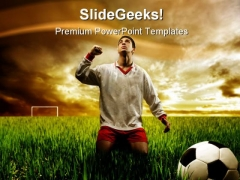 Soccer Player Sports PowerPoint Template 0910