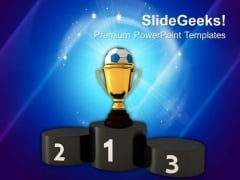 Soccer Trophy And Podium Competition PowerPoint Templates And PowerPoint Themes 1012