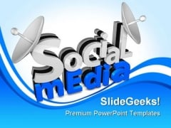 Social Media Communication PowerPoint Backgrounds And Templates 1210