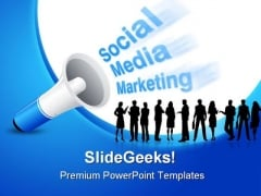 Social Media Marketing Business PowerPoint Background And Template 1210