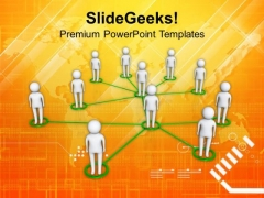 Social Network Community Team Communication PowerPoint Templates Ppt Backgrounds For Slides 0113