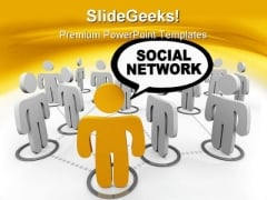 Social Network Speech Bubble People PowerPoint Templates And PowerPoint Backgrounds 0411