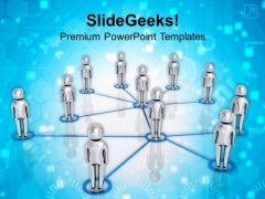 Social Network Team Business PowerPoint Templates Ppt Backgrounds For Slides 1112