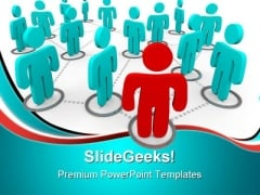 Social Networking Leadership PowerPoint Themes And PowerPoint Slides 0811
