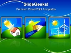 Solar Energy Concept Environment PowerPoint Backgrounds And Templates 1210