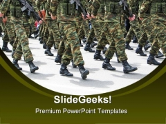 Soldiers People Americana PowerPoint Template 1110