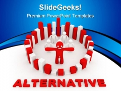 Solution Alternative Concept Business PowerPoint Templates And PowerPoint Backgrounds 0811
