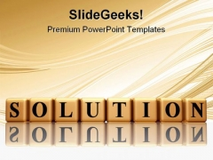 Solution Business Abstract PowerPoint Themes And PowerPoint Slides 0811