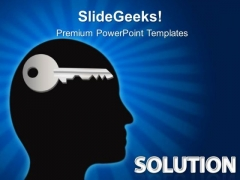 Solution Key Business PowerPoint Templates And PowerPoint Themes 0312