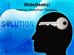 Solution Key Business PowerPoint Templates And PowerPoint Themes 0512