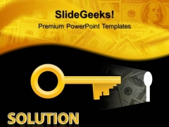 Solution Key Finance PowerPoint Templates And PowerPoint Themes 0512