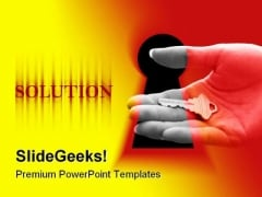 Solution Key Metaphor PowerPoint Templates And PowerPoint Backgrounds 0211