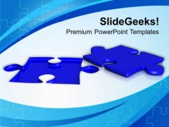 Solution Of Problem Blue Puzzle PowerPoint Templates Ppt Backgrounds For Slides 0313