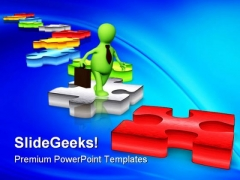Solution Path Business PowerPoint Themes And PowerPoint Slides 0311