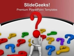 Solve All The Business Questions PowerPoint Templates Ppt Backgrounds For Slides 0713