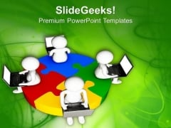 Solve Problems With Team Help And Technology PowerPoint Templates Ppt Backgrounds For Slides 0613