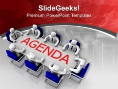 Solve The Agenda In Team Meeting PowerPoint Templates Ppt Backgrounds For Slides 0513