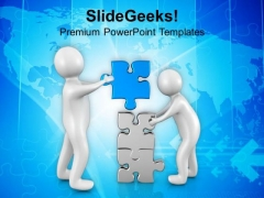 Solve The Problem With Joint Approch PowerPoint Templates Ppt Backgrounds For Slides 0613