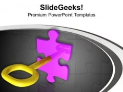 Solve The Problem With Solution Key PowerPoint Templates Ppt Backgrounds For Slides 0513
