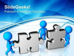 Solve The Problem With Team Efforts PowerPoint Templates Ppt Backgrounds For Slides 0513