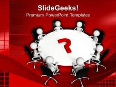 Solve The Questions In Team Meeting PowerPoint Templates Ppt Backgrounds For Slides 0513