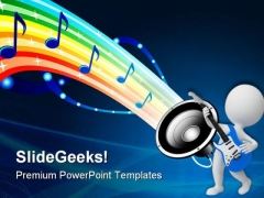 Sound Of Rainbow Music PowerPoint Templates And PowerPoint Backgrounds 0611