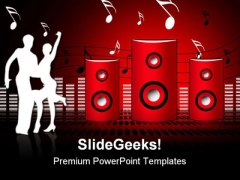 Soundburst Speaker Music PowerPoint Themes And PowerPoint Slides 0811