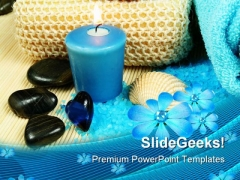 Spa In Blue Beauty PowerPoint Themes And PowerPoint Slides 0311