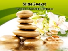 Spa Stones Beauty PowerPoint Template 0610
