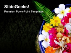 Spa With Flowers Beauty PowerPoint Themes And PowerPoint Slides 0311