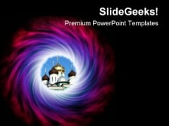 Space Abstract PowerPoint Themes And PowerPoint Slides 0811